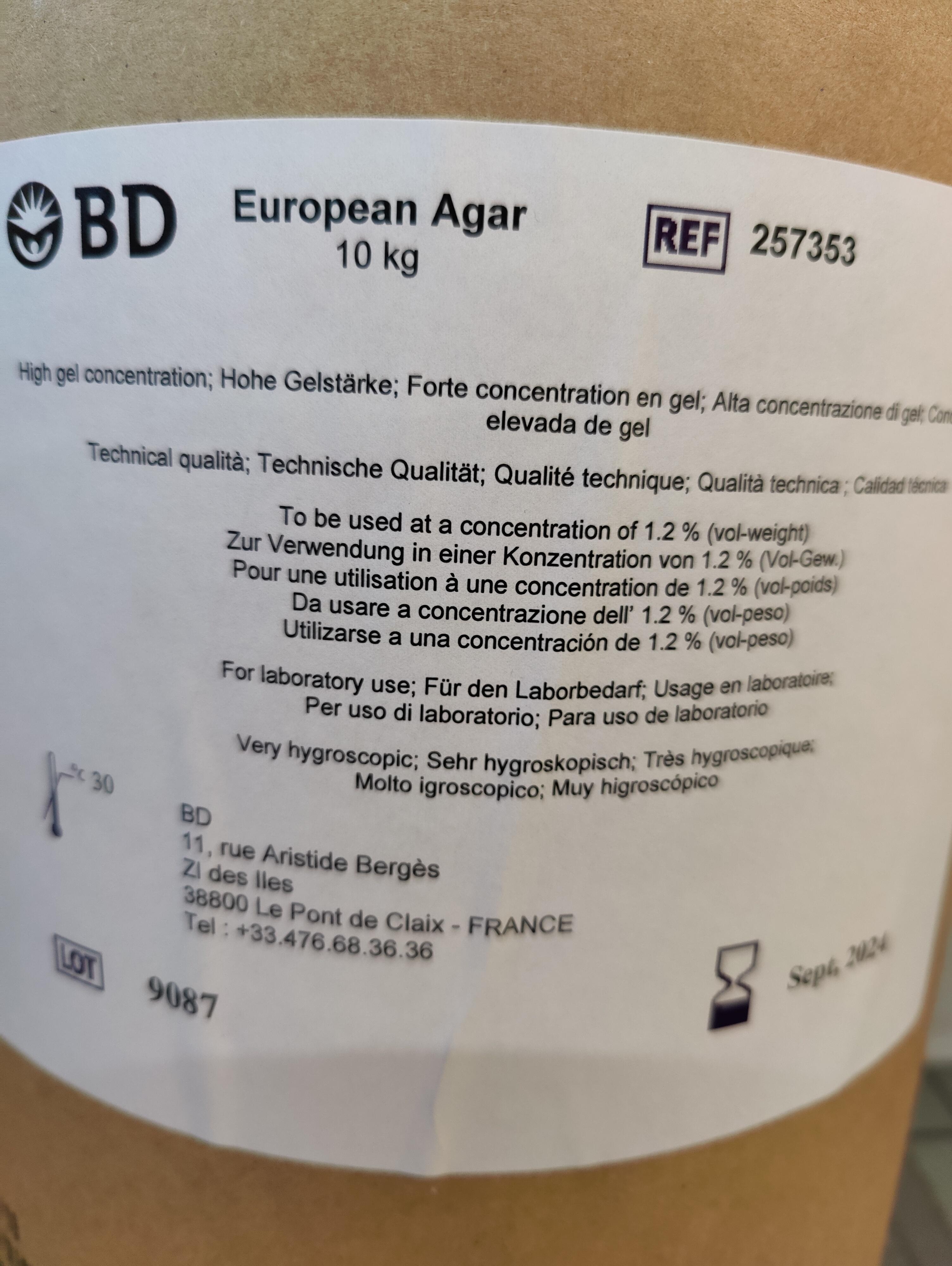 Europäischer Agar  (Herbstaktions-Sonderpreis, gültig bis zum 17.12.2021)