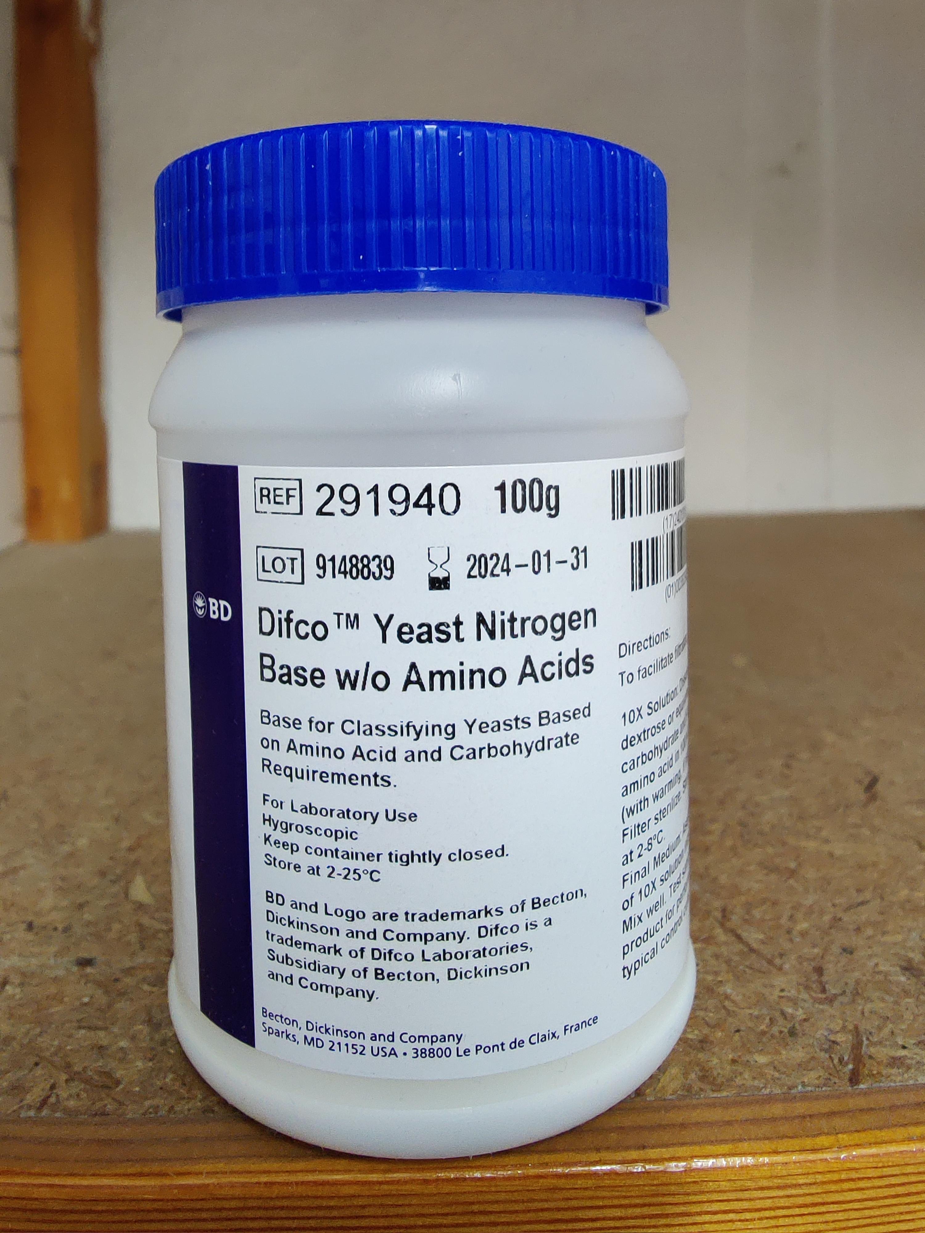 Hefe-Stickstoff (Basis) ohne Aminosäuren   (Aktionspreis, gültig bis zum 19.12.2020)